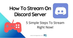 how to stream on Discord server